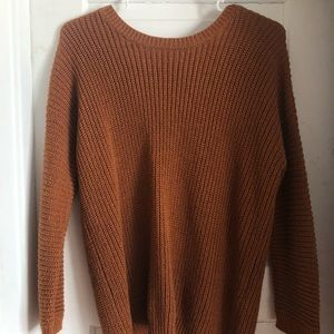 Burnt orange sweater!